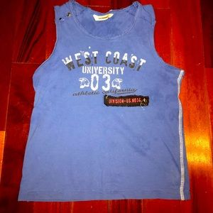 Boy's 3 pommes tank top muscle shirt blue sz 8